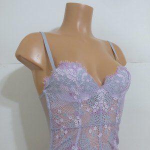 Victoria's Secret Corset Lace / Mesh Lilac 32B